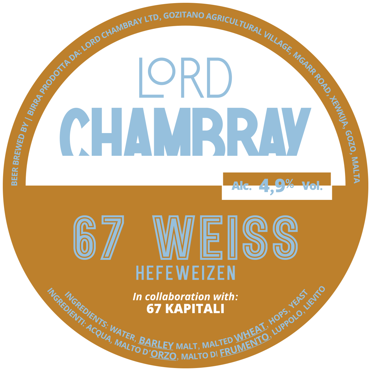 Lord Chambray – Craft Beer from Malta 67 WEISS