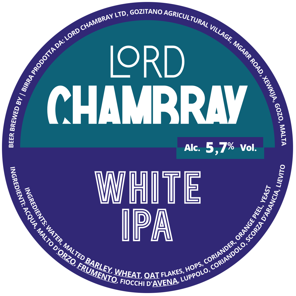Lord Chambray – Craft Beer from Malta WHITE IPA